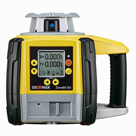 Geomax Zone60 DG Fully-Automatic Digital Dual Grade Slope Laser with Pro Receiver