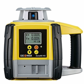 GeoMax Zone60 HG Dual Grade Slope Rotary Laser with ZRD105 Pro Digital Receiver