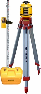Northwest NEXP800  Rotary  Laser Level kit Complete with detector, tripod and 9ft rod