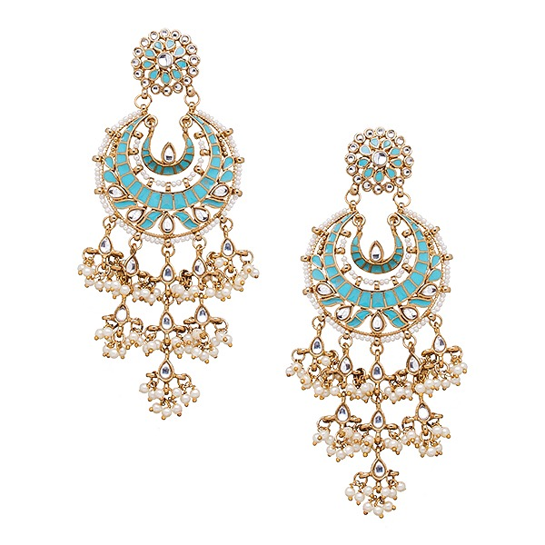 Suha Earrings in Turquoise  sc 1 st  Blossom Box Jewelry & Suha Earrings in Turquoise LOVE INDIA BY BLOSSOM BOX Aboutintivar.Com