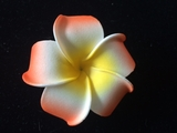 "2.5"" Inch Plumeria Flower Hair- Clip Set of 12"