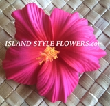 "3.5"" HIBISCUS FOAM FLOWER HAIR PICK-Sherbet Pink"