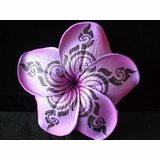 37570eaa0 Tribal Print Foam Flowers - Hawaiian Tribal Design Plumeria
