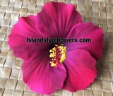 "4.3"" Inch Hibiscus Foam Flower Clip or Pick -  Pink Purple"