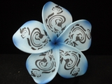 "4"" Inch Tribal Print Plumeria Hair Clip or Pick"