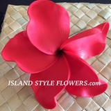 "6 "" Crinkled  Petals PLUMERIA FLOWER PICK-Red"