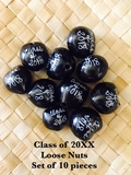 Class of 20xx LOOSE Kukui Nuts- Black-   10 pcs