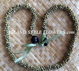 Hawaiian Green Mongo Shell Lei Necklace