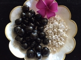 Hawaiian Kukui Lei Making KIT-  Black Kukui w/ White Mongo Shells