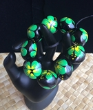 Hawaiian Kukui Nut Bracelet- Green