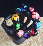 Hawaiian Kukui Nut Bracelet- Multicolor