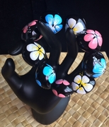 Hawaiian Kukui Nut Bracelet- Pink, Blue, White