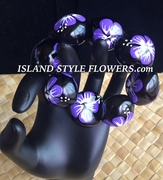 Hawaiian Kukui Nut Bracelet- Purple