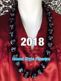 "Hawaiian Kukui Nut Graduation Lei- ""2018"" -Custom Lei"