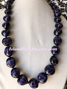 Hawaiian Kukui Nut Honu Turtle Lei- Purple