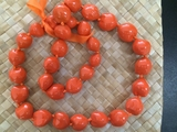 Hawaiian Kukui Nut Lei- Orange