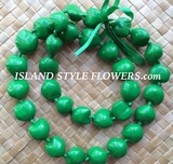 Hawaiian Kukui Nut Lei- Solid Green