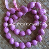 Hawaiian Kukui Nut Lei- Solid Pink