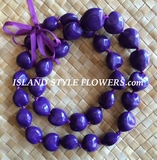 Hawaiian Kukui Nut Lei- Solid Purple