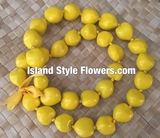 Hawaiian Kukui Nut Lei- Yellow