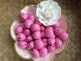 LOOSE Kukui Nuts- Pink   10 pcs