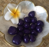 LOOSE Kukui Nuts- Purple   10 pcs
