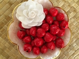 LOOSE Kukui Nuts- Red   10 pcs