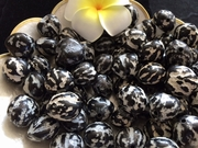 LOOSE Kukui Nuts- Tiger Print (rough)   10 pcs