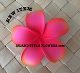POINTED PETAL PLUMERIA- Sherbet Pink w/ Orange Tips