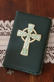 Celtic Cross on Green and Gold