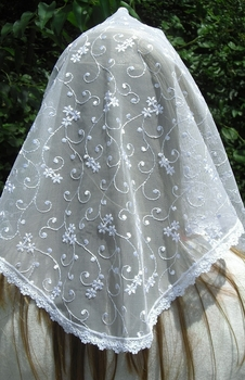 Claudia White Chapel Veil