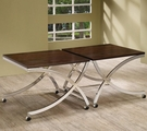 2 Piece Coffee Table with Casters