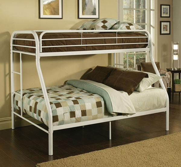 "2"" Tube Twin/Full Bunk Bed"