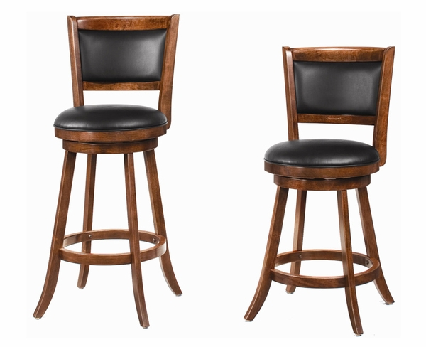"24"" / 29"" Swivel Bar Stool with Upholstered Seat - DOOR BUSTER"