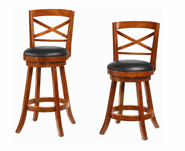 """24""""/29"""" Swivel Bar Stool with Upholstered Seat"""