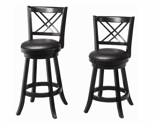 "24""/29"" Swivel Bar Stool with Upholstered Seat - DOOR BUSTER"