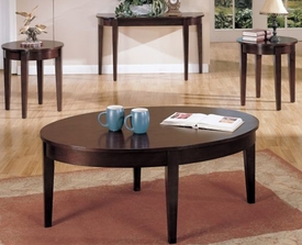 3-Pc Oval Coffee Table Set
