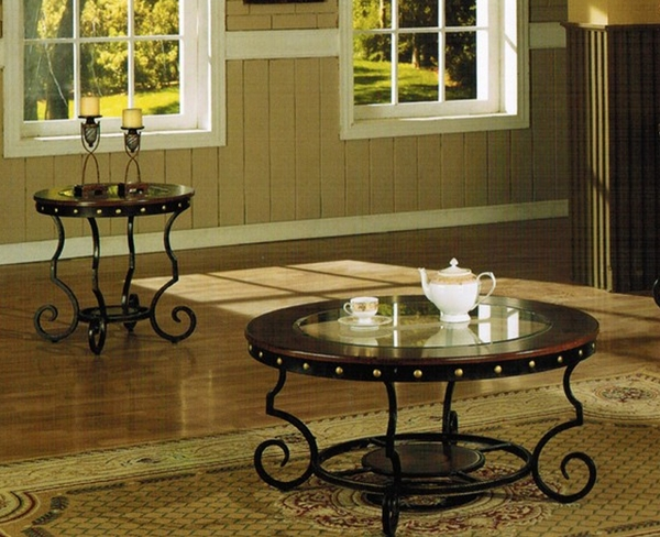 3-Pc Round Coffee Table Set