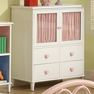 4 Drawer Chest with Two Doors and Heart Shaped Knobs