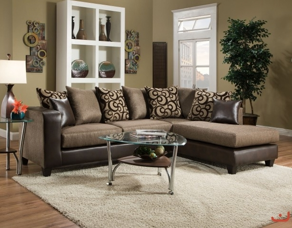 St. Germaine Espresso Sectional # 4124-01