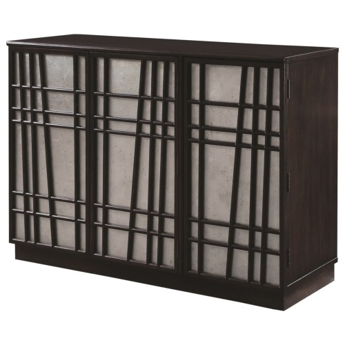 Accent Cabinet with Geometric Design