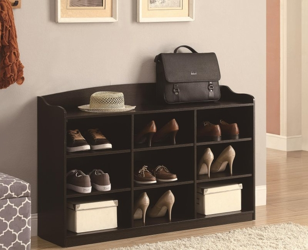 9 Cube Bookcase with Top Rail