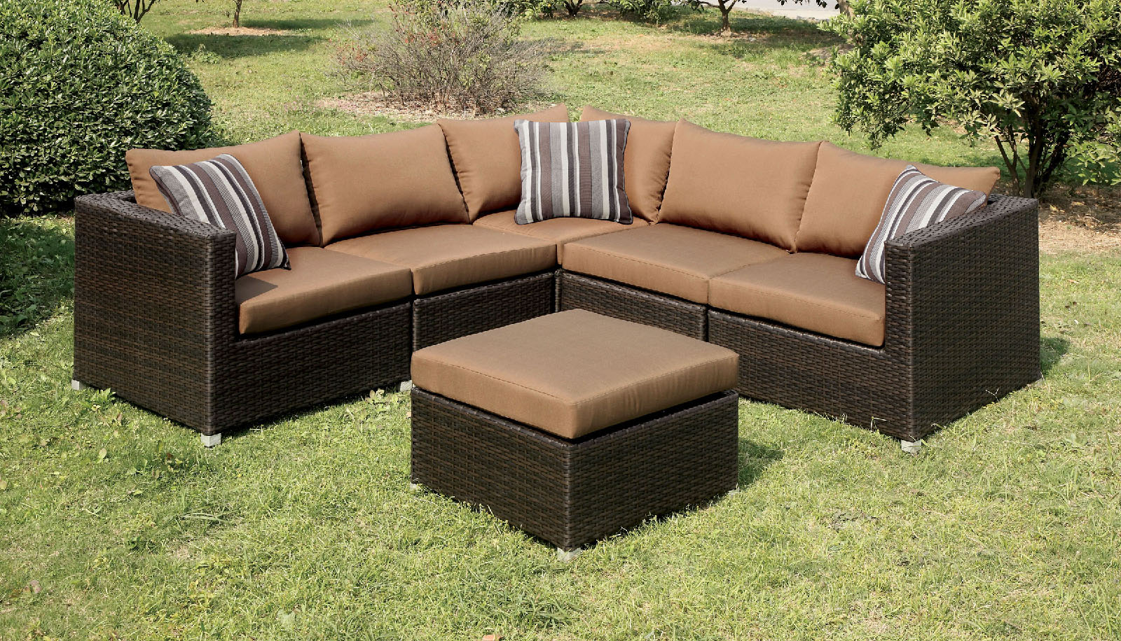 Abion patio set by furniture of america cm os1821br for Furniture of america dallas texas