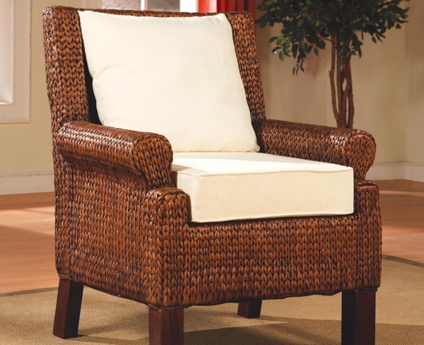 Accent Banana Leaf Woven Chair