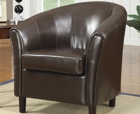 Accent Barrel Chair with Wood Legs