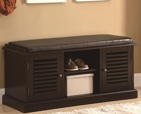 Accent Bench with Storage Doors