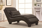 Accent Bonded Leather Match Upholstered Chaise