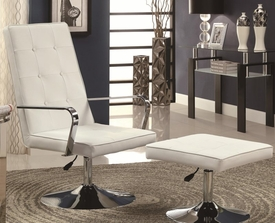 Accent Chair and Ottoman Swivel Set