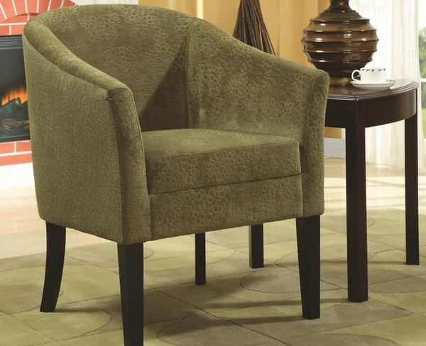 Accent Chair w/ Microvelvet Upholstery