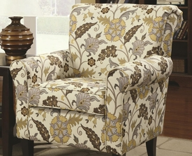 Accent Chair with Decorative Rolled Arms